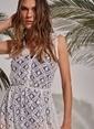 Morhipo Beach Dantel Plaj Elbise Beyaz